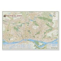 Ростов-на-Дону М1:20 тыс 101х69 ламинированная настенная карта