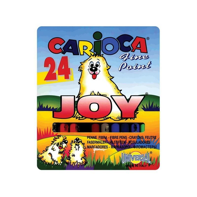 Фломастеры Carioca 24цв в карт.
