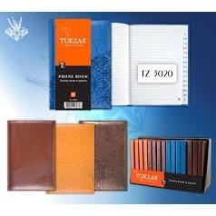 Алфавитная книжка  Tukzar А6, 96л.линия, кожзам с тиснением, ассорти (дисплей 16 шт.)