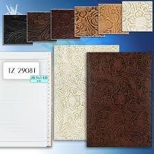 Алфавитная книжка  Tukzar, 7,5*13см, кожзам с тиснением, линия, цвет ассорти(дисплей 18шт.)
