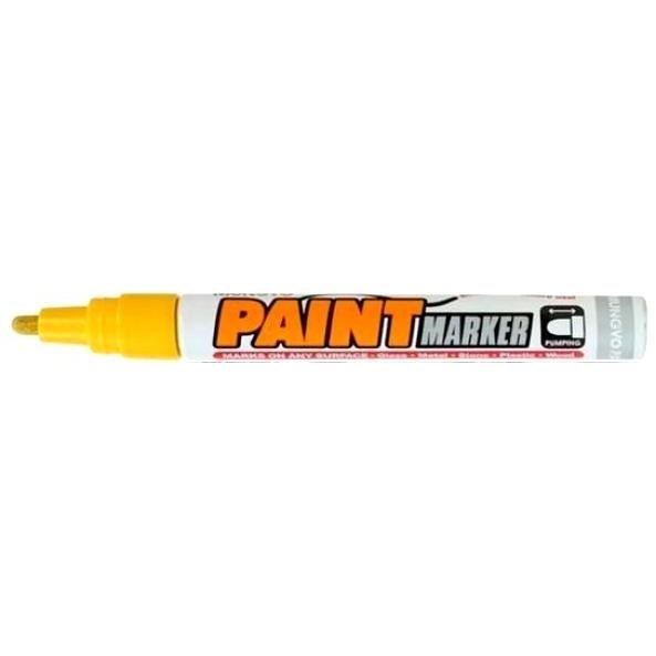 Маркер -краска для письма по рарзным поверхностям цвет желтый