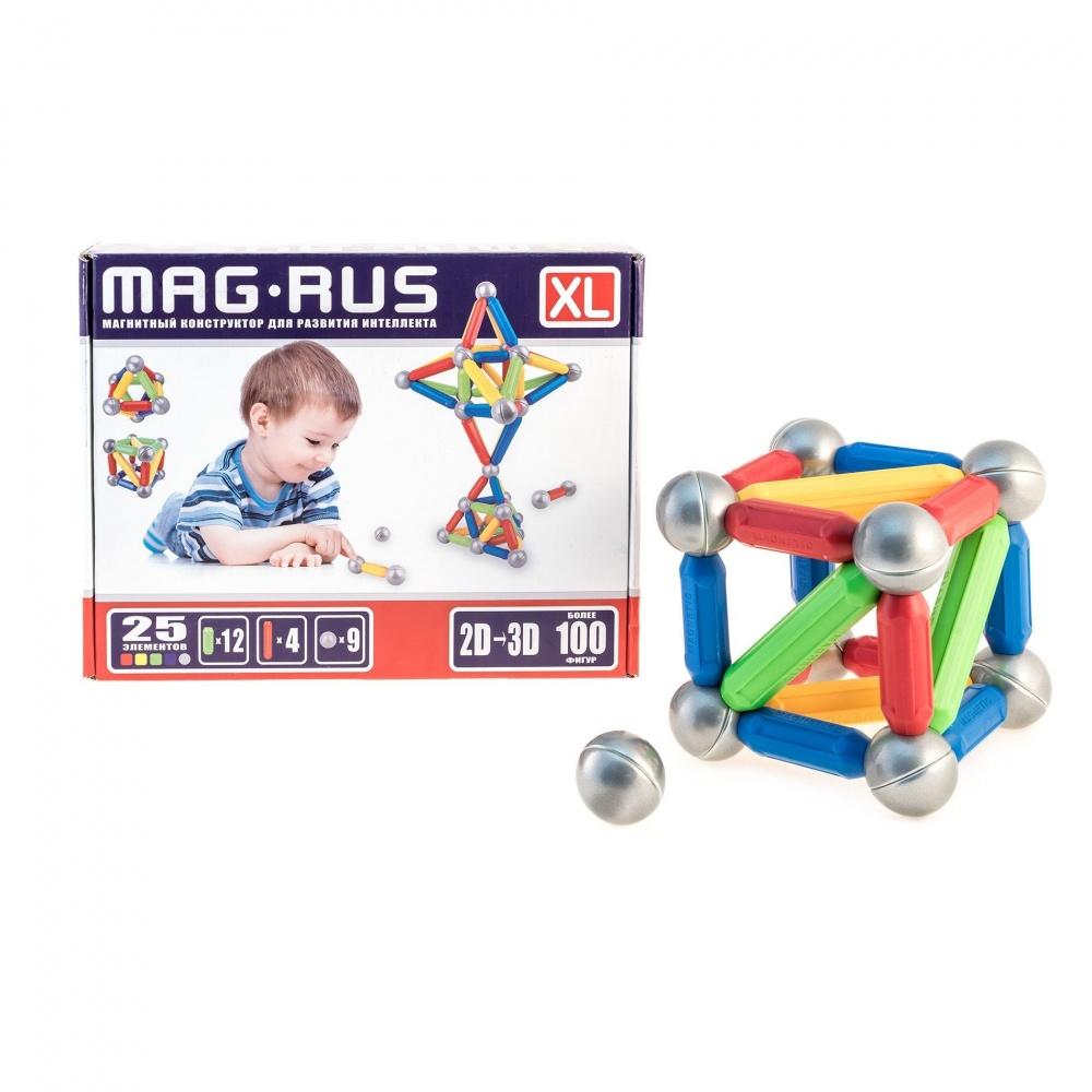 Магнитный констуктор для развития интеллекта MAG-RUS XL