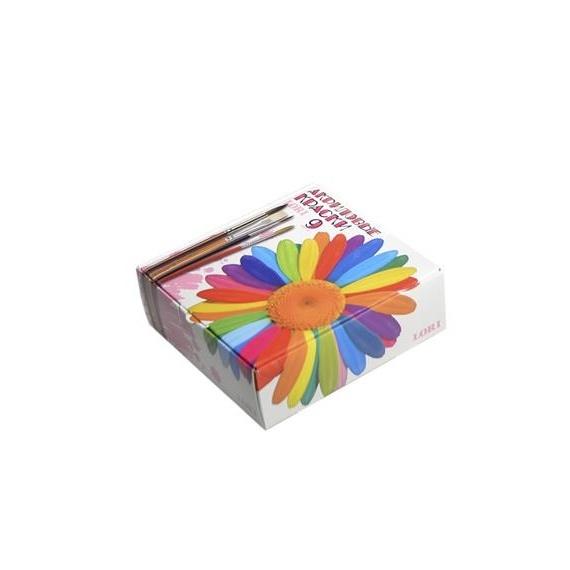 Краски акриловые, 9 цв., Акр-002