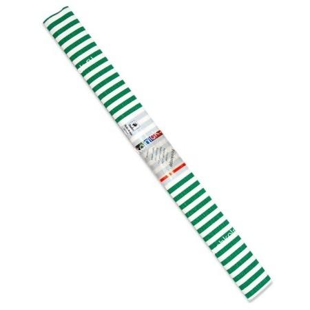 Бумага креповая 50*250 WEROLA полосы зелен. на бел.