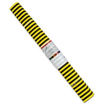Бумага креповая 50*250 WEROLA полосы черн. на желт.