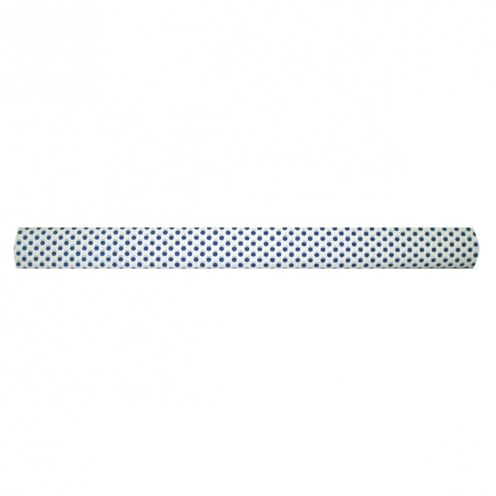 Бумага креповая 50*250 WEROLA Син. точки на белом