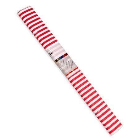 Бумага креповая 50*250 WEROLA полосы красн. на бел.