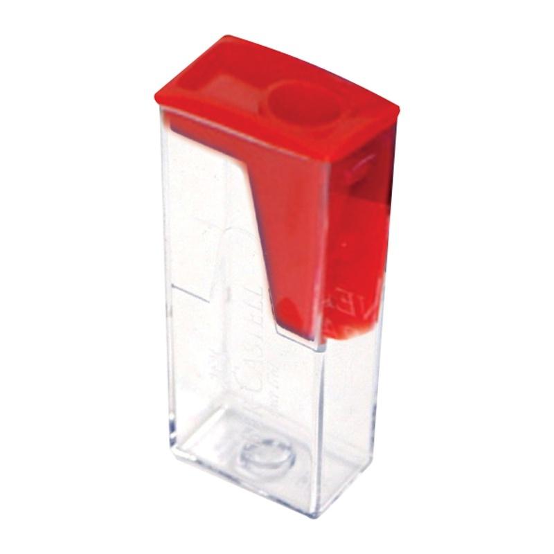 Точилка пластиковая 1 отверстие, контейнер , 4 цвета, FABER CASTELL