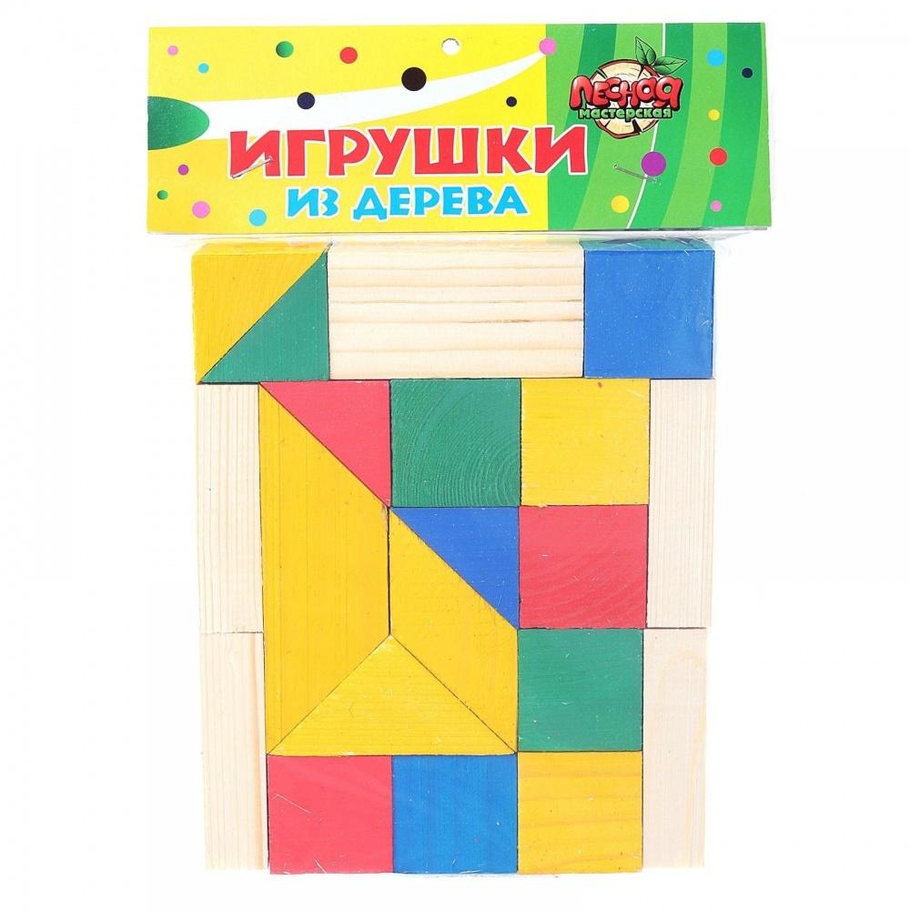 Деревянный развивающий конструктор, формы / цвет