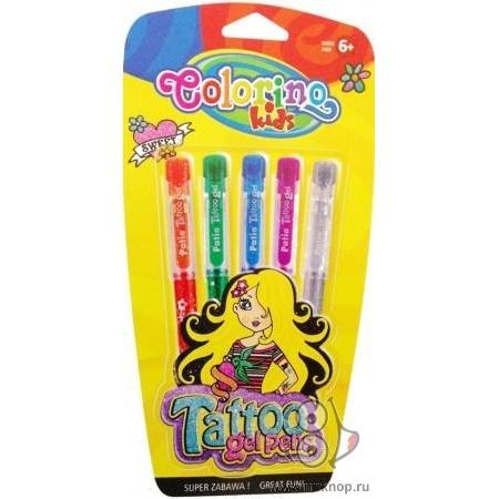 Гелевые ручки для татуировок Gel Tattoo 5 цветов (блистер)