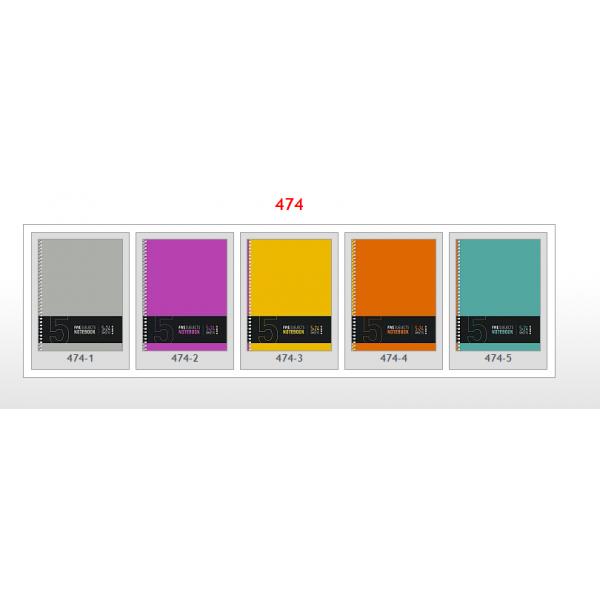 Тетрадь 120 л. А5 кл.спираль 474 с 5-ю разноцветными регистрами