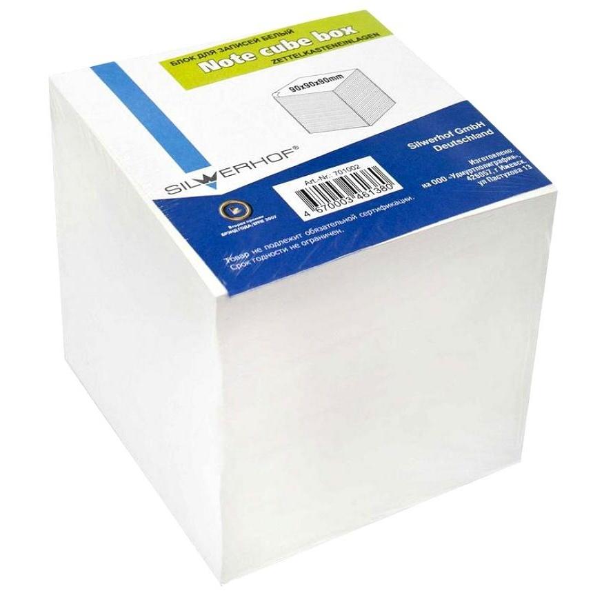 Бумажный блок для записей, 90*90*90мм белый